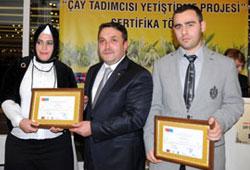 Çay Tadımcıları sertifikalarını aldı