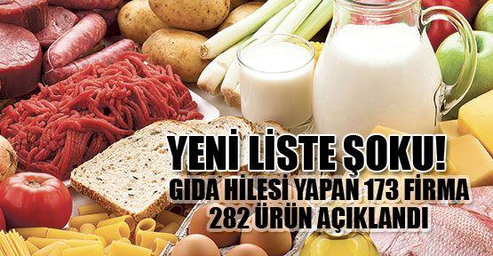 282 hileli gıda ürünü daha açıklandı