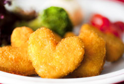 Kalpli nugget ile kalpleri ısıtıyor