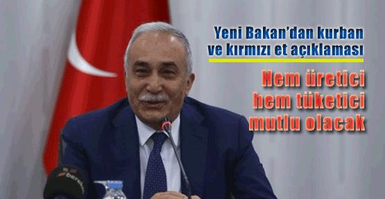 Bakan'dan flaş et sorunu açıklaması