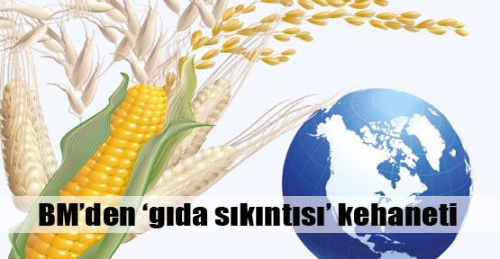 BM'den 'gıda sıkıntısı' uyarısı