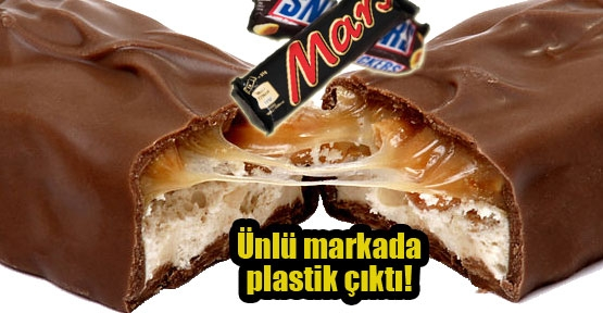 Çikolatadan plastik madde çıktı