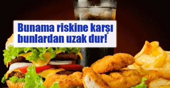 Hamburger bunama riskini artırıyor!