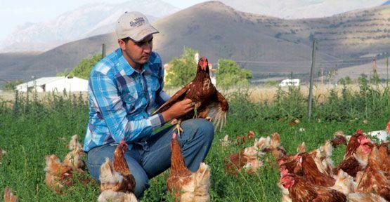 Kentlere köy yumurtası satıyor