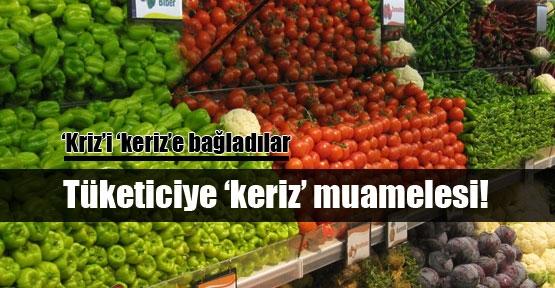 Sebze meyve yüzde 40 zamlandı