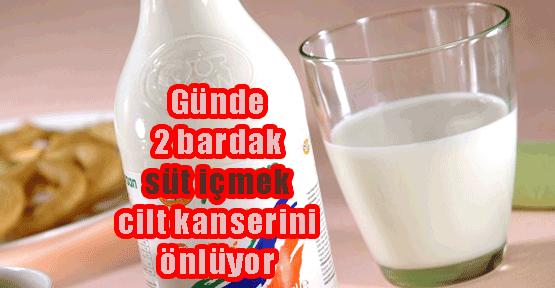 Süt içmek cilt kanserini de önlüyor!