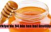 1 milyon Türk 94 bin ton bal üretiyor