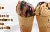 Sade ve kakaolu dondurma güvenli