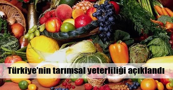 Türkiye tarımda kendine yetiyor