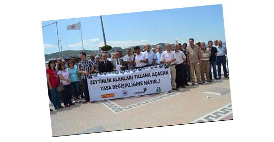Zeytin üreticisi 'geçim' eyleminde