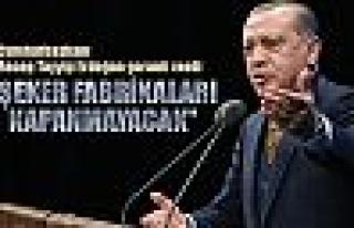 Erdoğan'dan flaş şeker açıklaması