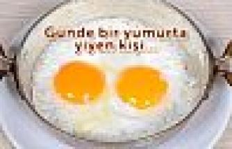 Günlük bir yumurta yiyen kişi